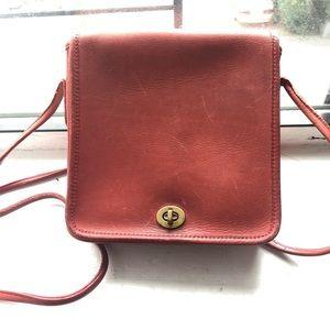 Vintage Red Coach Bag